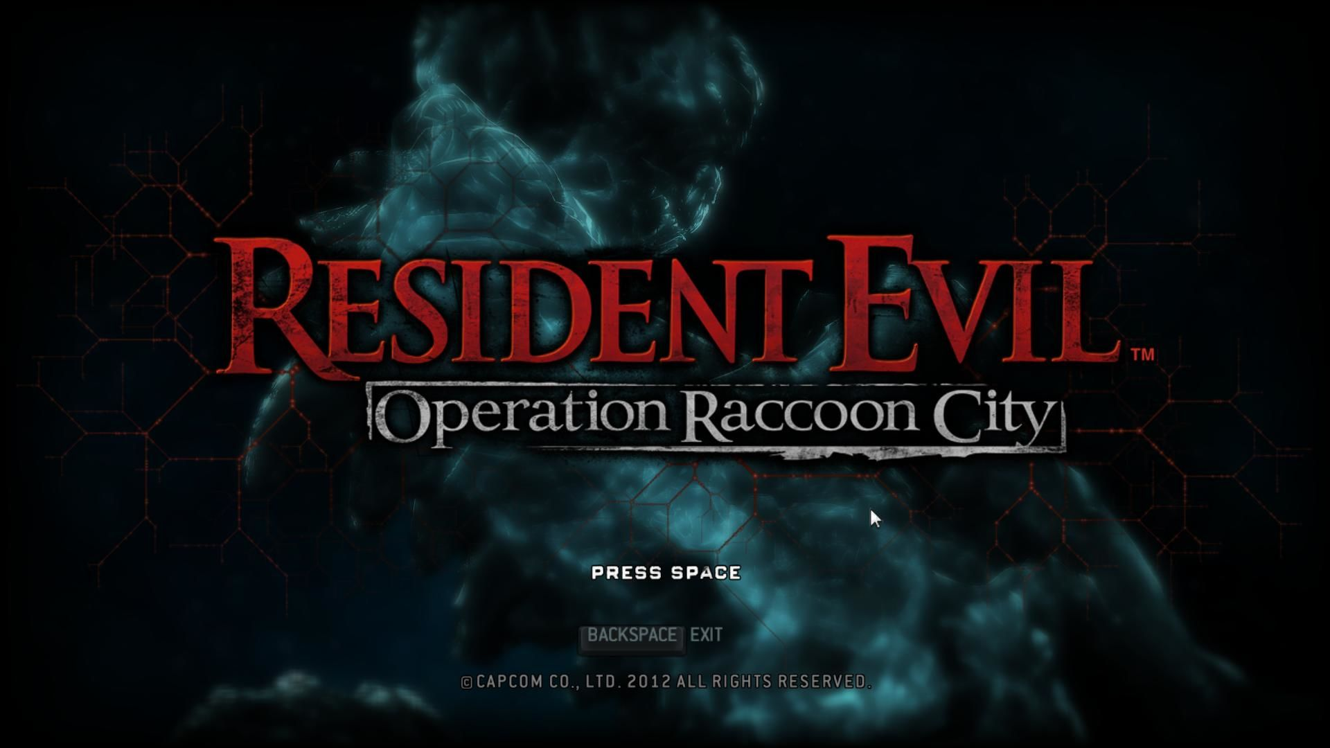 Resident Evil: Operation Raccoon City Windows Start screen.