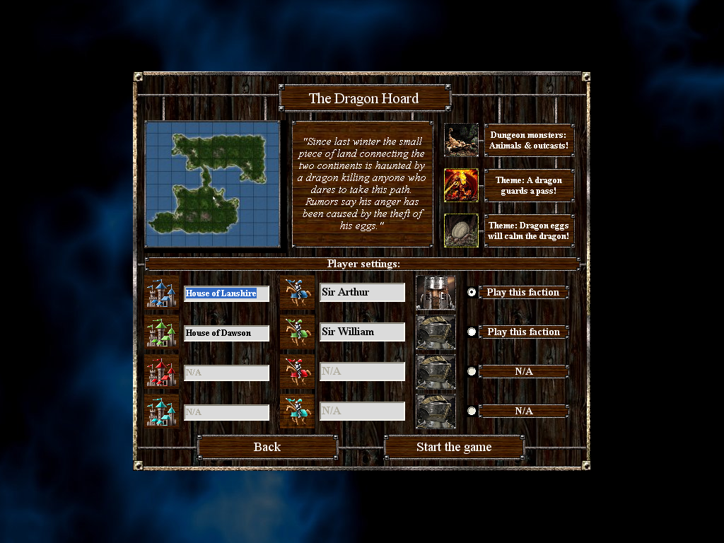 Empires & Dungeons Windows Scenario description.