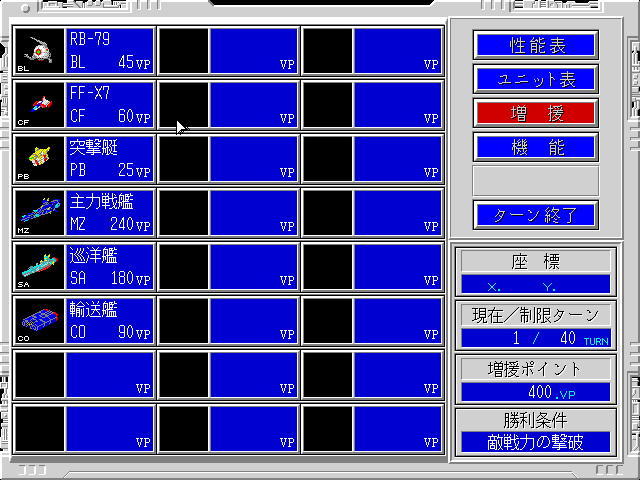 Mobile Suit Gundam: Hyper Classic Operation FM Towns Unit types
