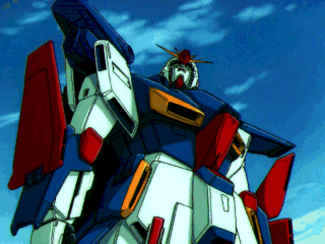 Mobile Suit Gundam: Hyper Desert Operation FM Towns A scene between missions