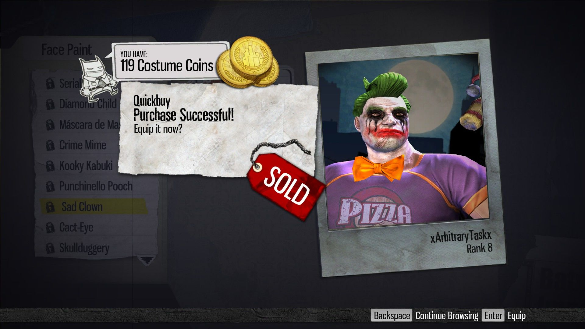 Gotham City Impostors Windows Character Customization