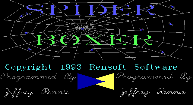 Spider Boxer DOS Title screen
