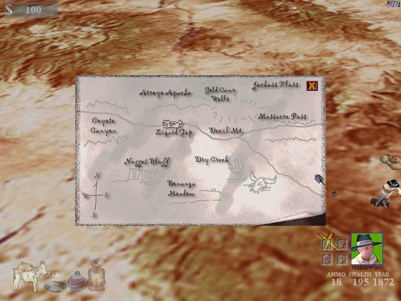 Lost Dutchman Mine 3D Windows The map