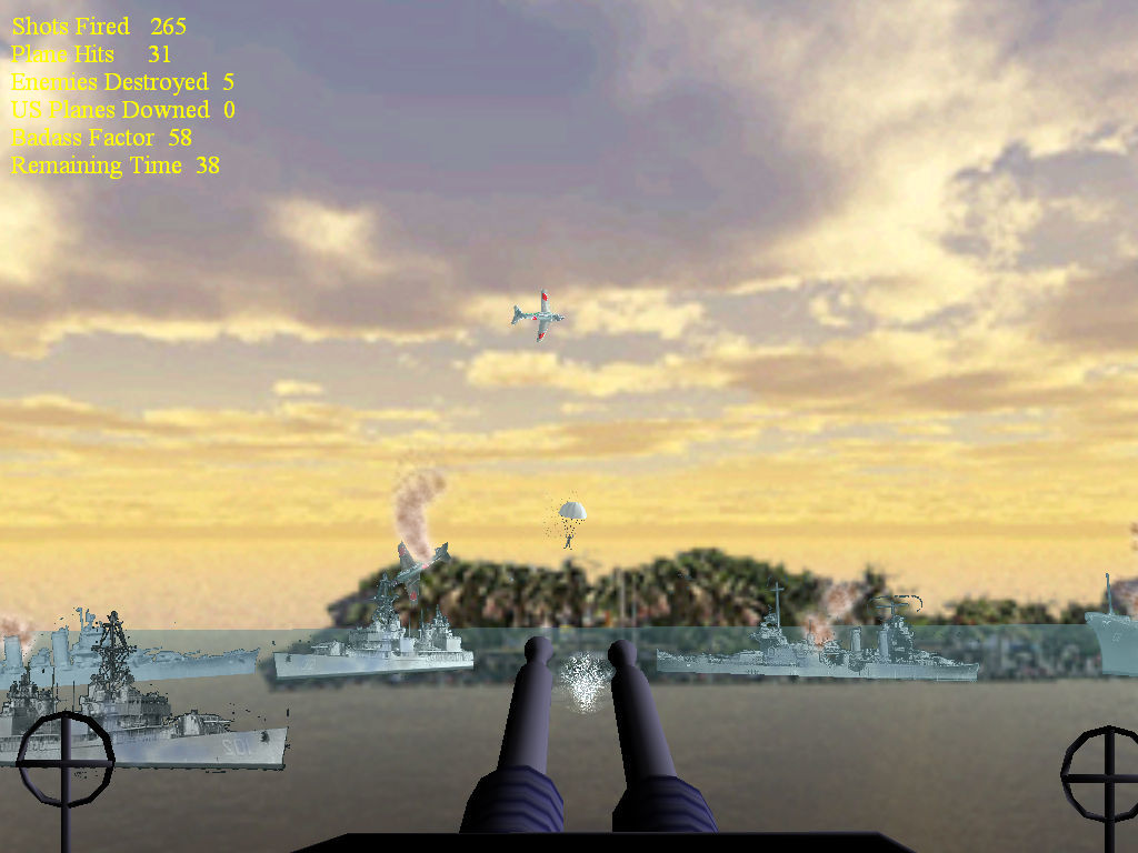 Pearl Harbor Encounter Windows Shoot down planes have funny physics