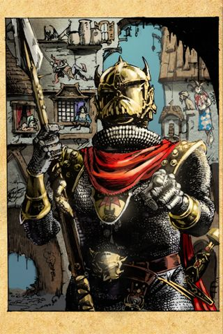 Fighting Fantasy: City of Thieves iPhone First picture -- now in colour!