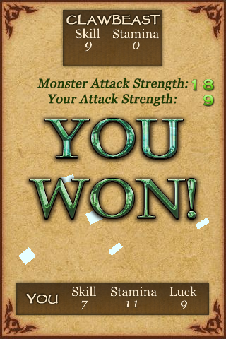 Fighting Fantasy: Creature of Havoc iPhone Thank you, now where is my float?