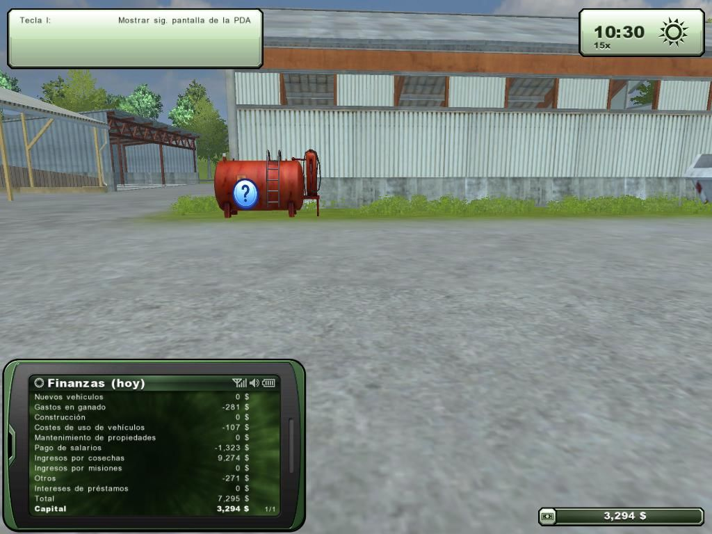 Farming Simulator 2013 Windows Fuel tank