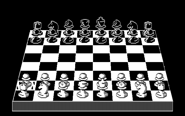 Psion Chess DOS Playing chess in 3D-board mode