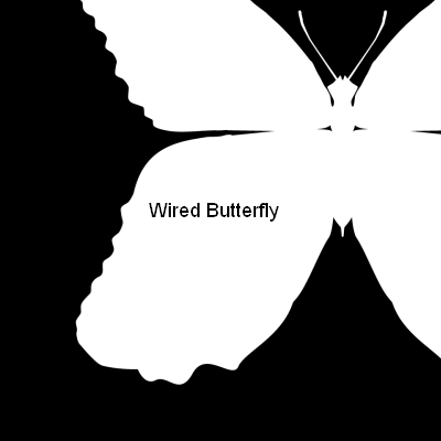 Wired Butterfly Windows Title screen
