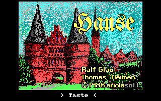 Hanse DOS Intro screen