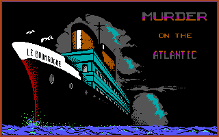 Murder on the Atlantic DOS Loading screen