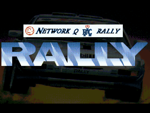 Network Q RAC Rally FM Towns Title screen