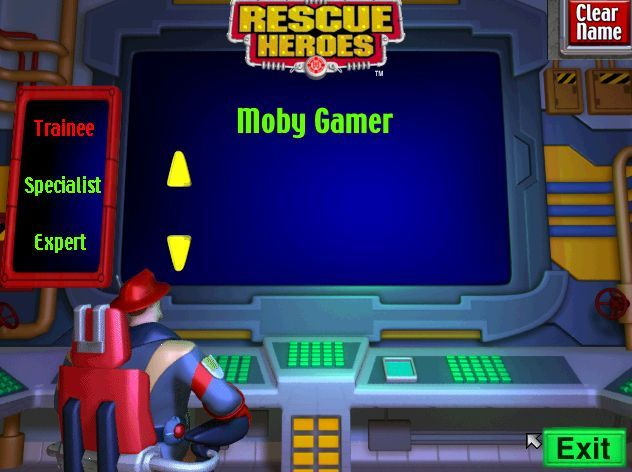 Rescue Heroes: Meteor Madness Windows This is the sign-on screen