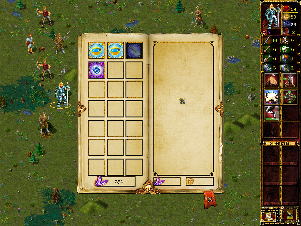 Eador: Genesis Windows All hero classes can cast spells (like a Knight here). The efficiency, available spell levels and number of spell slots depend on the magic ability.