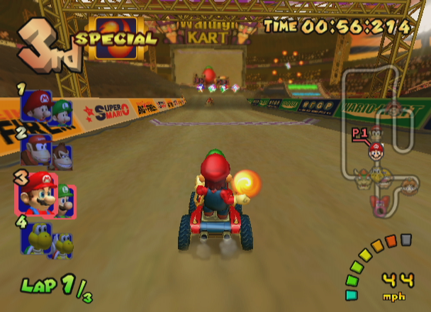 Mario Kart: Double Dash!! GameCube Fireball special item.