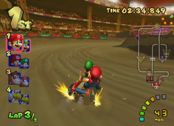 Mario Kart: Double Dash!! GameCube Powerslide.