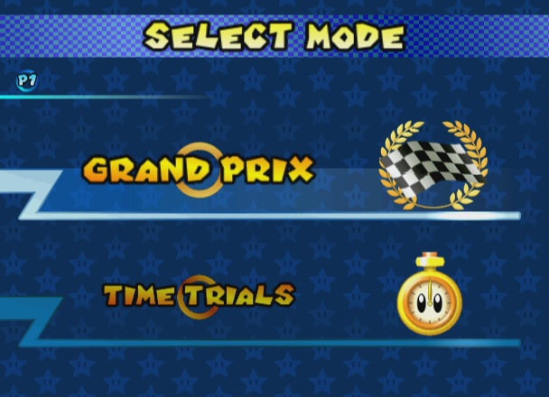 Mario Kart: Double Dash!! GameCube Select mode.