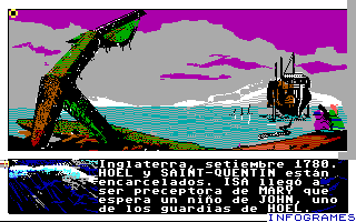 Passengers on the Wind DOS The game begins (Tandy)
