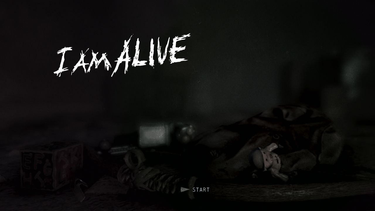 I Am Alive PlayStation 3 Start screen