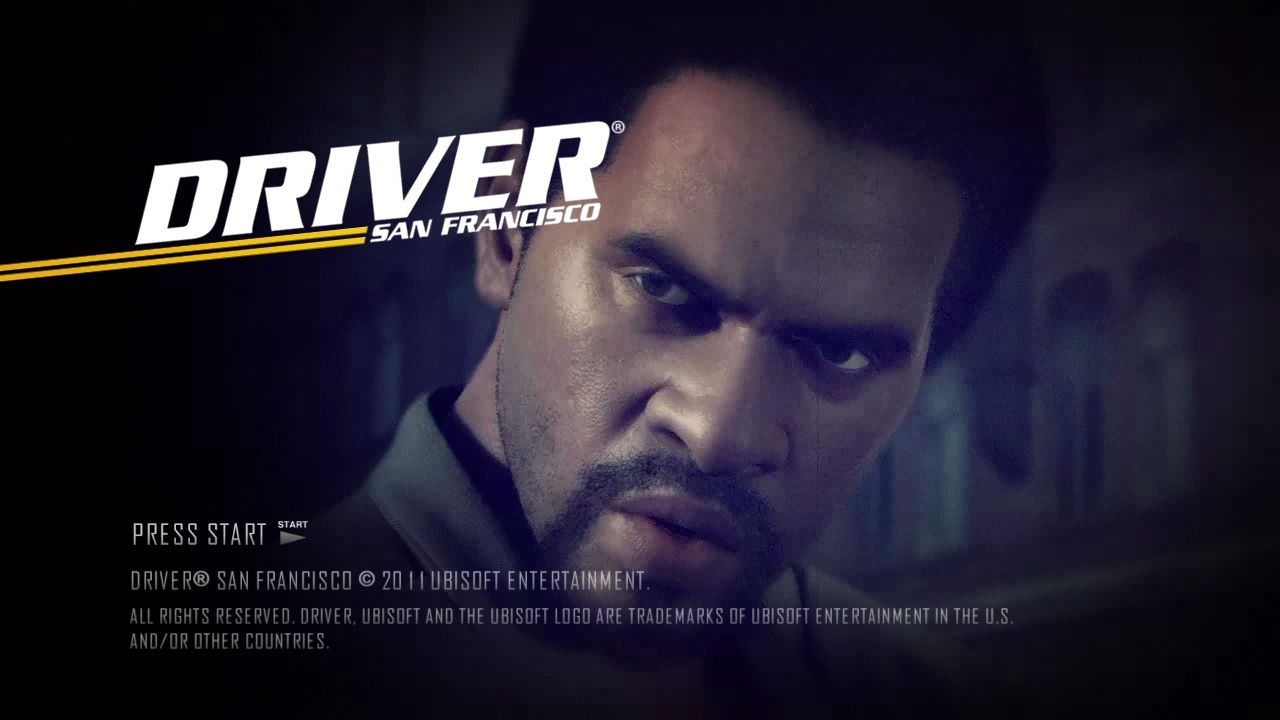 Driver: San Francisco PlayStation 3 Start screen