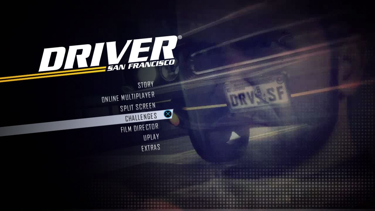 Driver: San Francisco PlayStation 3 Main menu