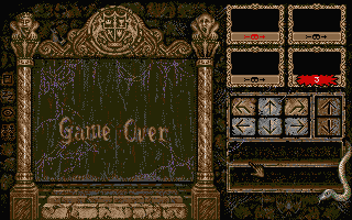 Knightmare Atari ST Game over