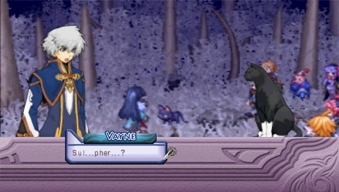 Mana Khemia: Alchemists of Al-Revis PSP Vayne's cat Sulpher plays an important role in the story