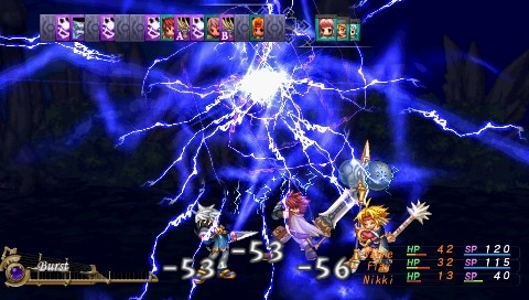 Mana Khemia: Alchemists of Al-Revis PSP My party attacked with lighting