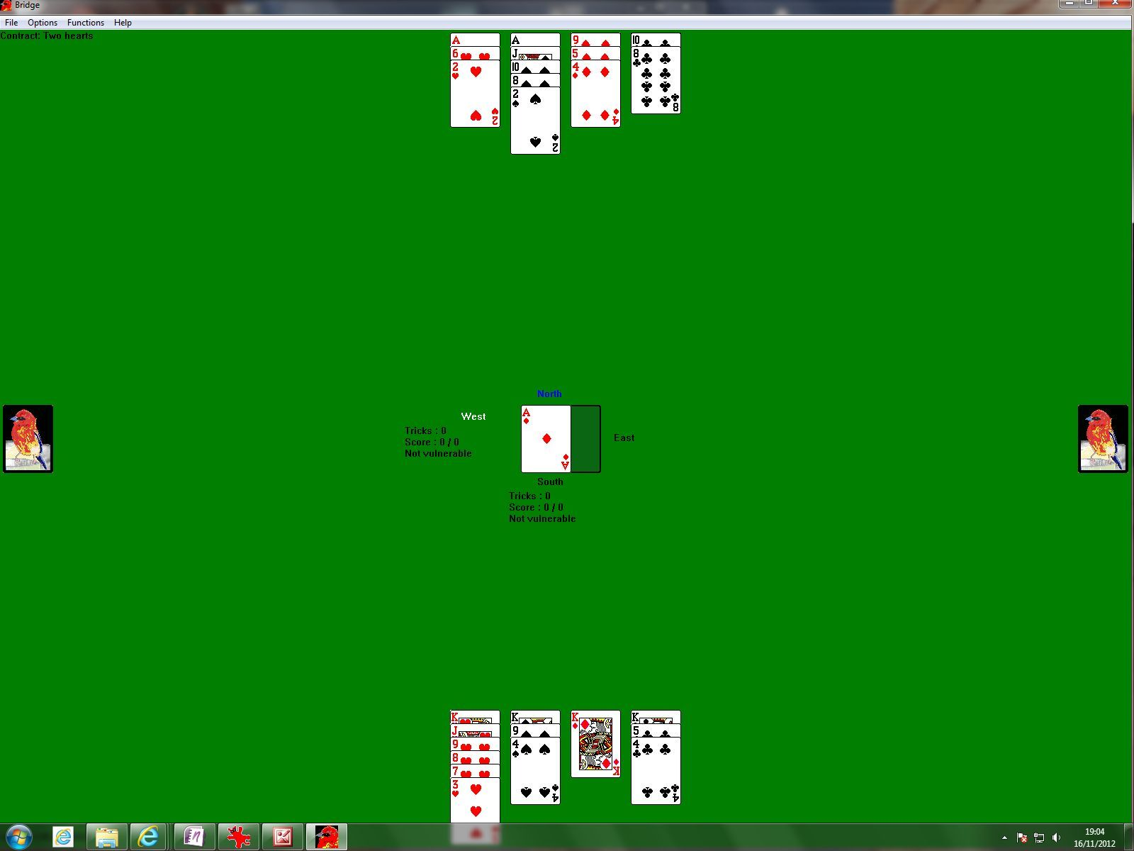 WolfBridge Windows Here the player has successfully bid a contract and partner's hand is displayed as dummy