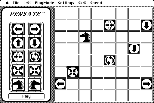 Pensate Macintosh Practice mode, where I can create my own board