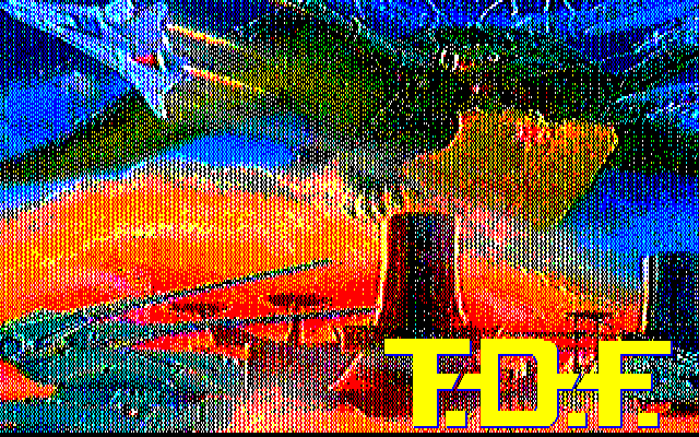 Kaijū Daisensō T.D.F. PC-88 Title screen