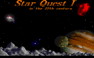 Star Quest I in the 27th Century DOS Title screen.