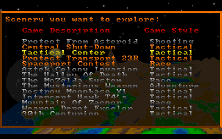 Star Quest I in the 27th Century DOS The exploration mode allows to fly through available levels without the need to fight or complete other objectives.