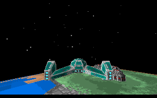 Star Quest I in the 27th Century DOS Each mission starts with a cutscene on the game engine, showing the player's ship fly towards the objectives.