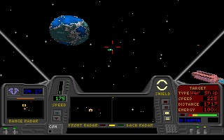 Star Quest I in the 27th Century DOS Another fighter approaches the convoy.