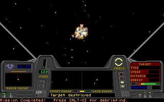 Star Quest I in the 27th Century DOS Target destroyed! This was the last of the attackers.