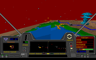 Star Quest I in the 27th Century DOS Enemy sentry ships are not primary targets here...
