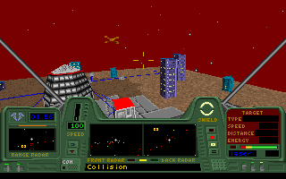 Star Quest I in the 27th Century DOS Another cockpit colour variant.