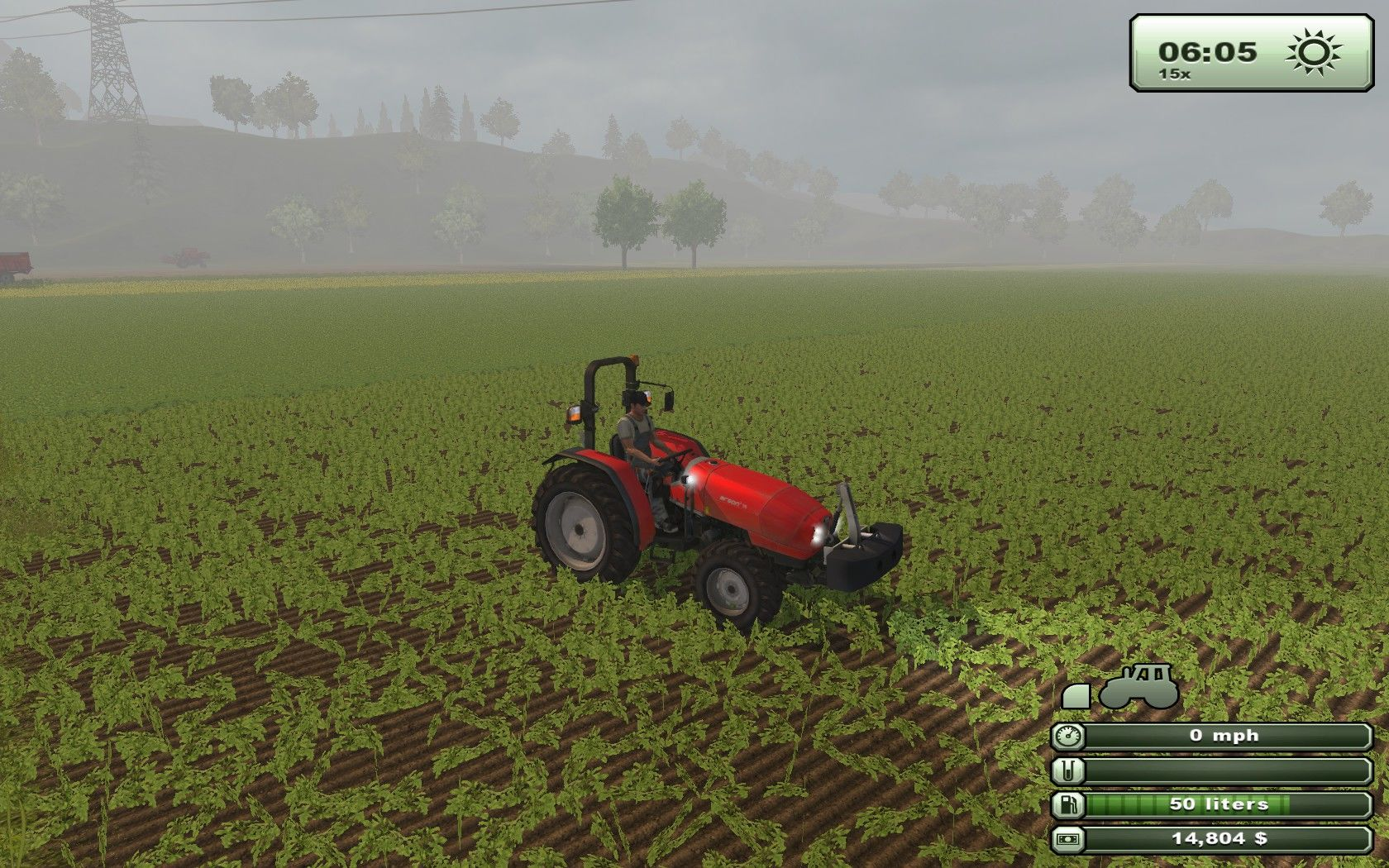 Farming Simulator 2013 Windows Early morning survey of the coming harvest.