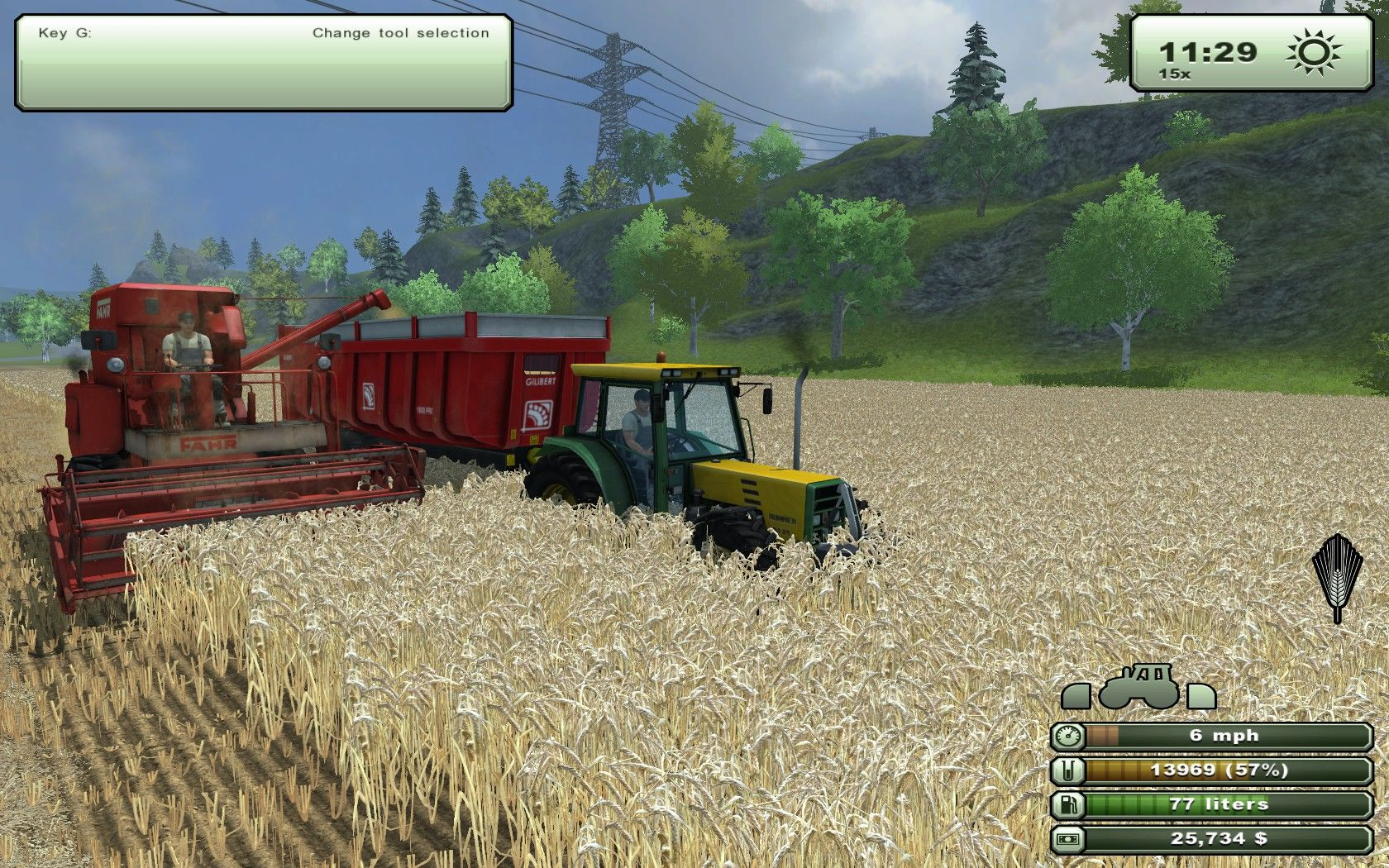 Farming Simulator 2013 Windows Barley harvest.