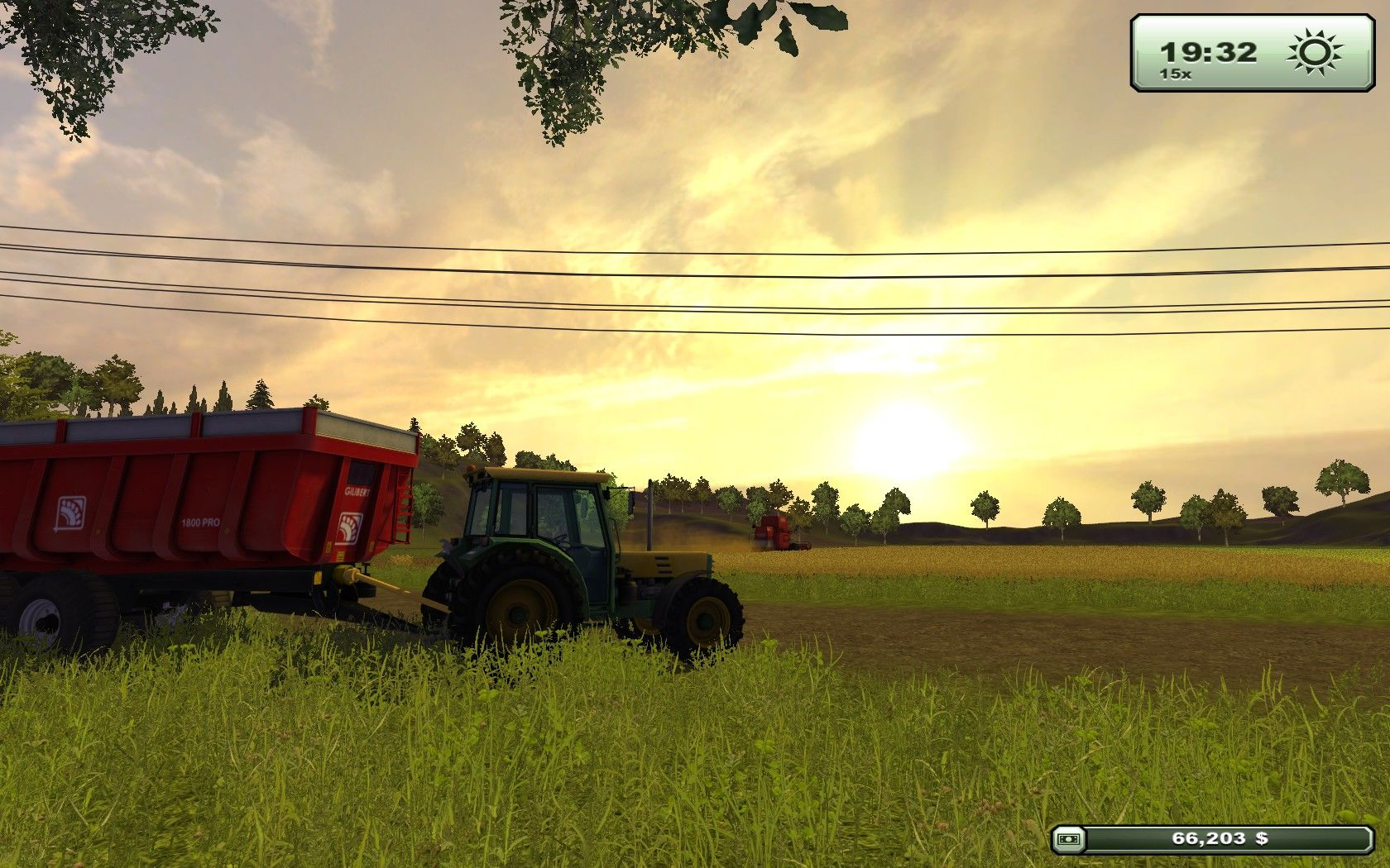 Farming Simulator 2013 Windows Up at the crack of dawn, ready for another day of harvesting.