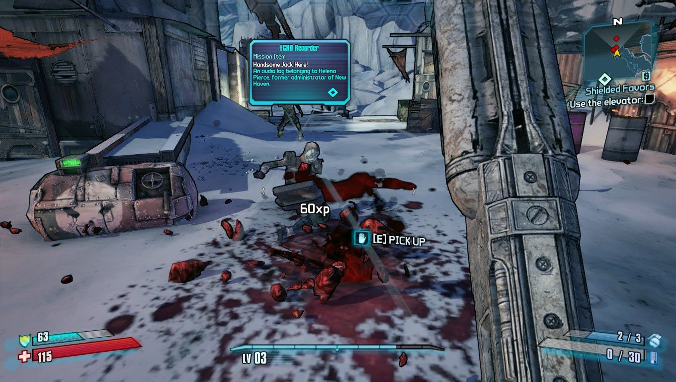 Borderlands 2 Windows Epic shotgun gibs