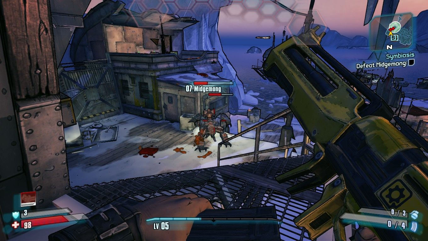 Borderlands 2 Windows Fighting a midget..riding a four legged monster. Routine Borderlands.