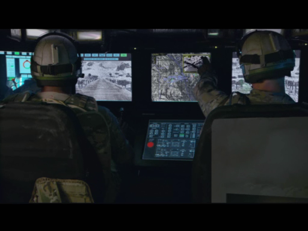 Future Force Company Commander Windows Intro movie - view from the commanders vehicle