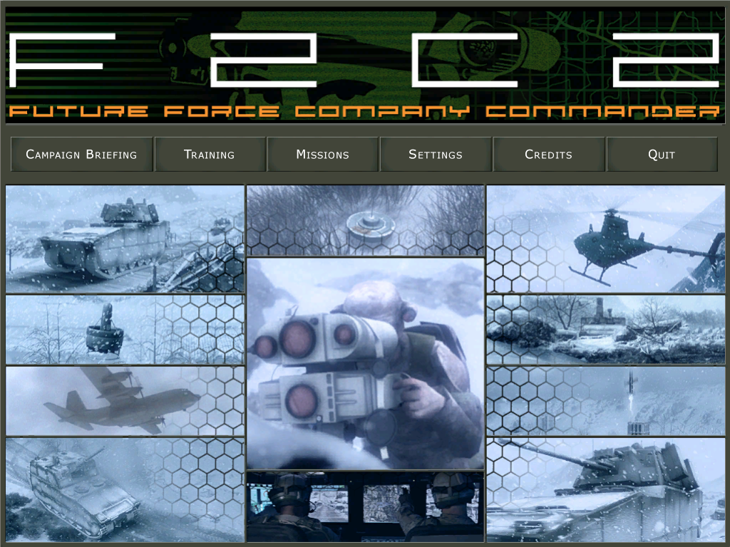Future Force Company Commander Windows Main menu