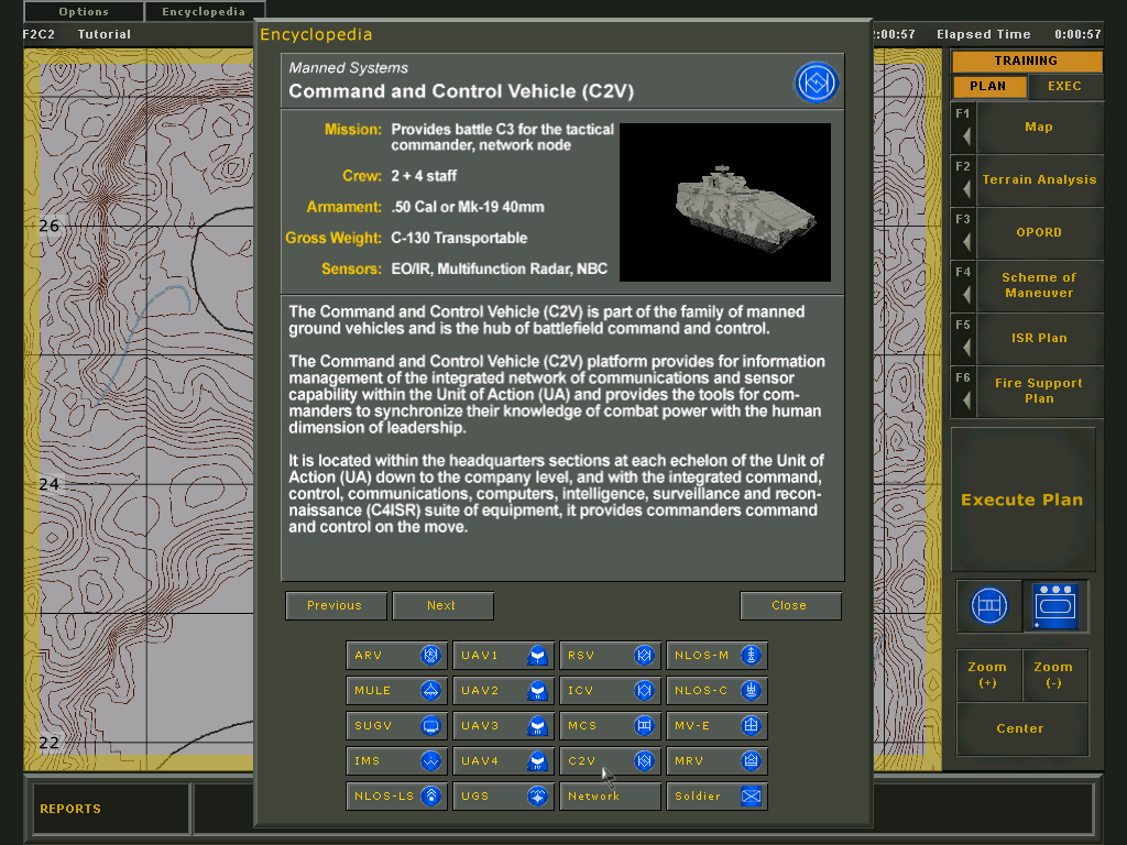 Future Force Company Commander Windows Encyclopedia: C2V - the commanders vehicle.