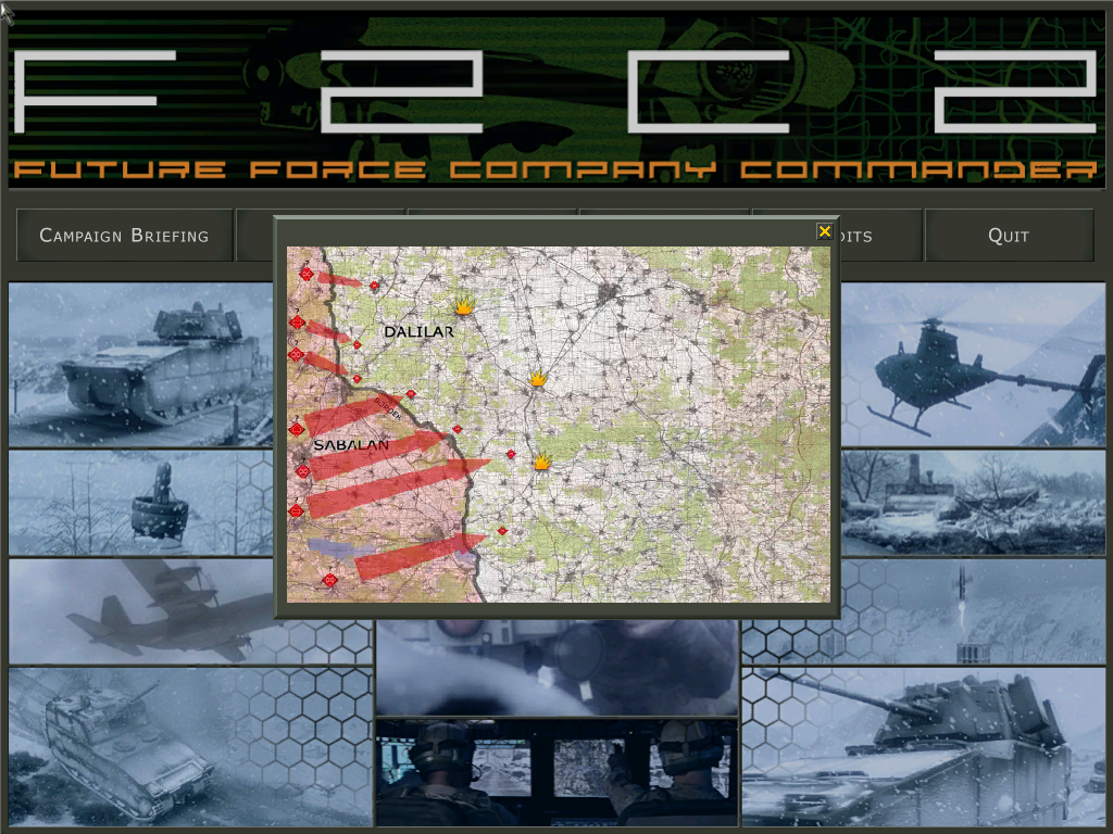 Future Force Company Commander Windows Campaign briefing - the enemy has attacked an allied nation.