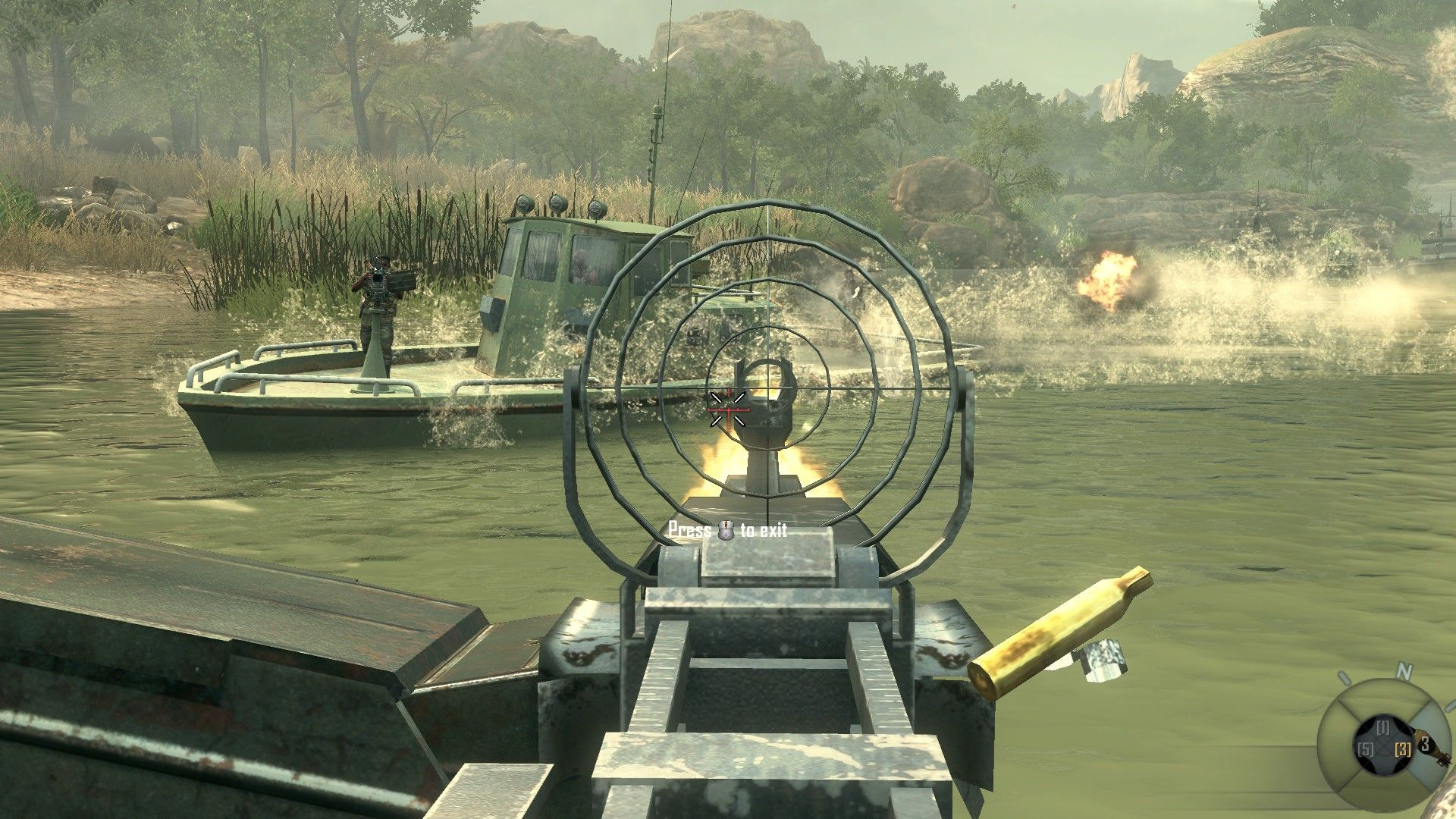 Call of Duty: Black Ops II Windows Shooting at enemies trying to come on board.