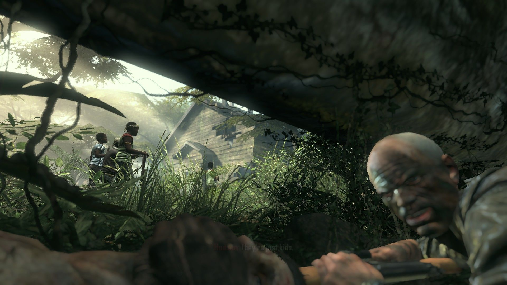Call of Duty: Black Ops II Windows Sneaking around the jungle.