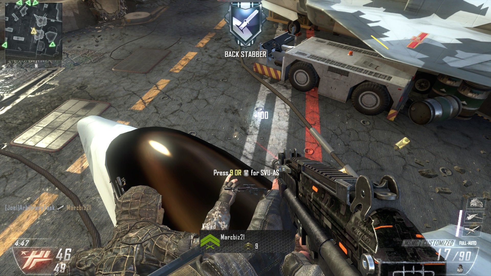 Call of Duty: Black Ops II Windows Stabbing a camper.
